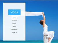 Yoga Single Page Multi-Purpose Free Adobe Muse Template