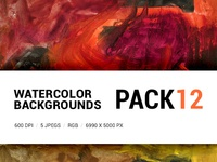 Free Watercolor backgrounds pack 12