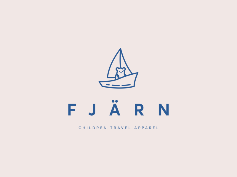 Fjärn - logo for a children travel apparel brand