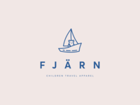 Fjärn - logo for a children travel apparel brand