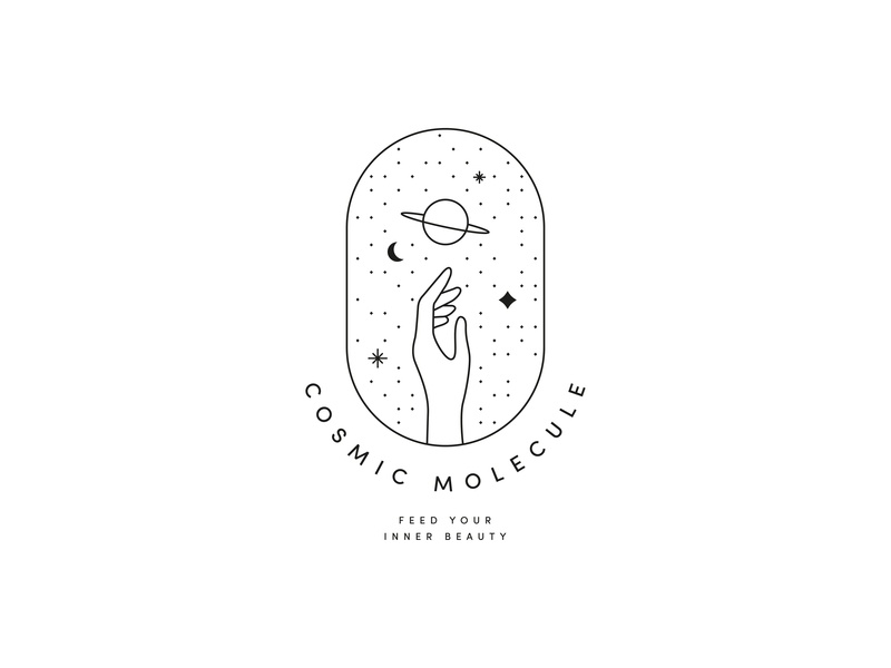 Cosmic Molecule - logo proposal for a hip collagen company