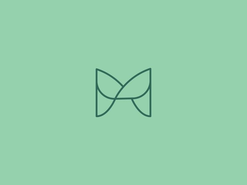 letter M icon eco organic natural leaves leaf icon m letter minimal logo