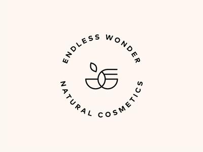 Endless wonder natural cosmetics logo design