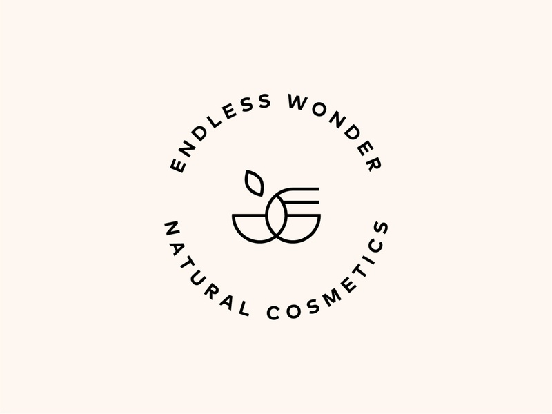 Endless wonder natural cosmetics logo design
