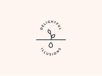 Delightful illusions logo design