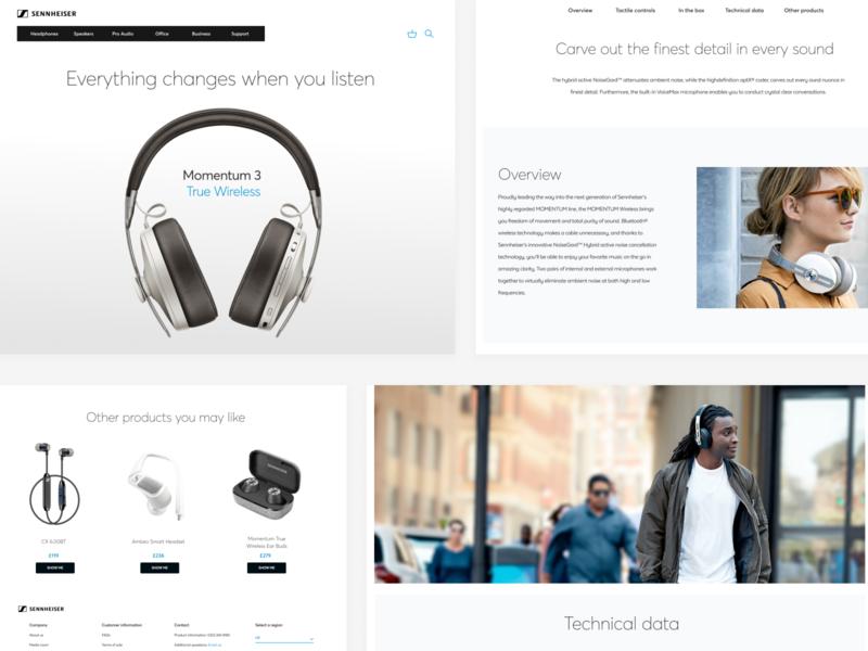 Sennheiser homepage redesign