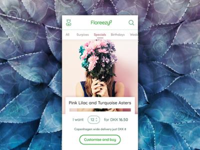 Copenhagen Flower Shop App Concept