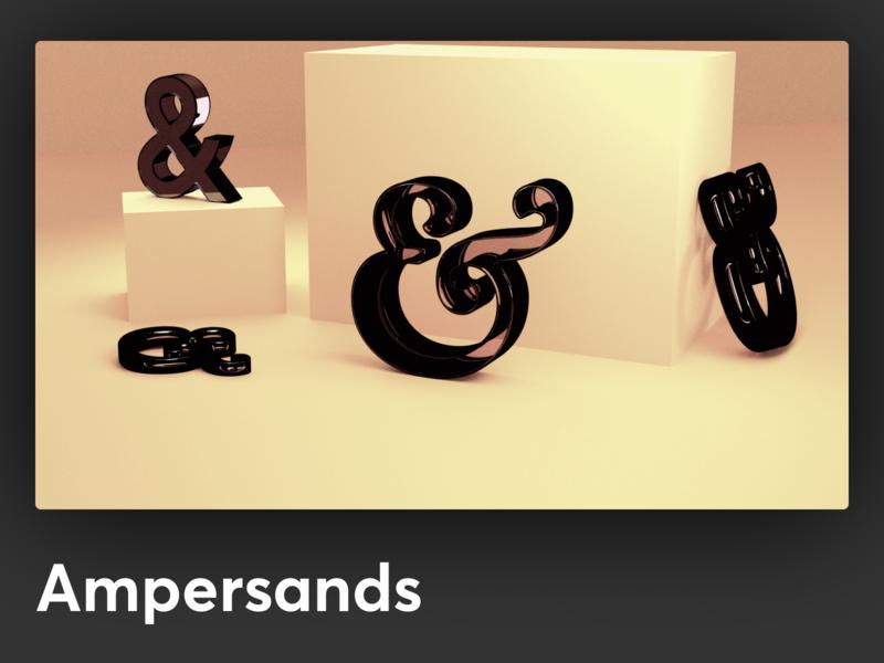 Ampersands render using Blender 2.8