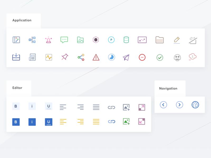 Icon set for enterprise retail platform