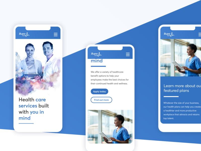 BUPA Healthcare mobile site