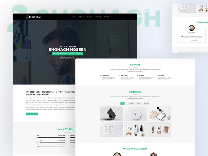 personal portfolio template free download by md shohagh hossen
