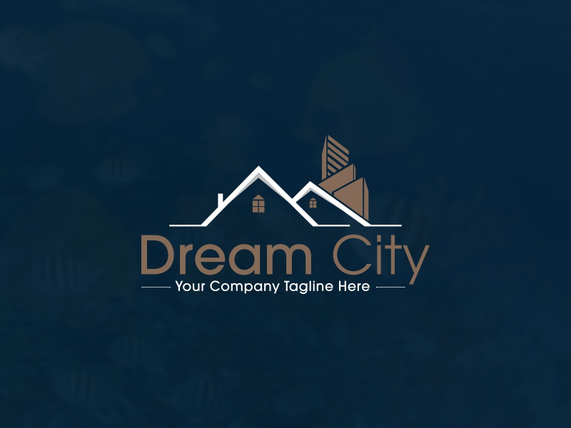 Real Estate Logo Design city logo build building city construction corporate house luxury real estate logo real estate