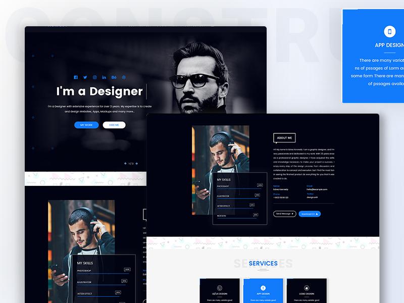 personal portfolio template design free download by shohagh hossen