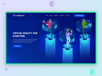 Virtual Reality Landing Page : WIP