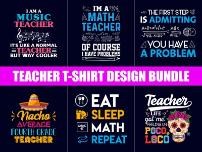 Best Teacher T-Shirt Design Bundle - Hello Dribbble