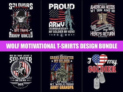 American Soldier T-Shirts Design Bundle - Hello Dribbble