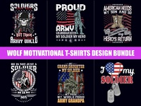American Soldier T-Shirts Design Bundle - Hello Dribbble