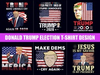Donald Trump T-Shirt Design Bundle - Typography T-Shirt Design