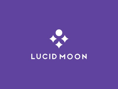 Lucid Moon moonlight girl logo beauty logo moon logo moon design brand design visual logos creative brand