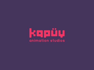 Kapüy simple logo studio animation brand animation typogaphy type logo typography branding design logo brand design visual mark logos creative brand