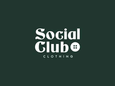 Social Club logotype clothing logo clothing design clothing brand clothing c logo s logo custom type customtype letter vector branding design logo brand design visual mark logos creative brand
