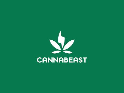 Cannabeast logotype logodesign vector branding design cannabis design cannabis packaging cannabis branding cannabis logo cannabis symbol logo visual mark logos creative brand