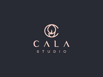 C A L A hair logo salon logo beautiful calla logo calla flower beauty salon beauty logo beauty branding logo brand design visual mark logos creative brand