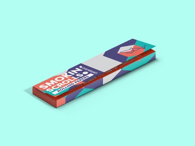 Rolling Paper - Smoking' Scrolls 3 cannabis rolling paper dribbble packaging design package design package cannabis packaging cannabis branding cannabis design packaging logo branding design mark logos brand design visual creative brand