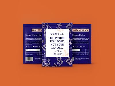 Tea Sachet illustration brand design visual packaging design tea cup pink blue tea time tea bag design vector branding package design packaging tea packaging natural tea creative brand