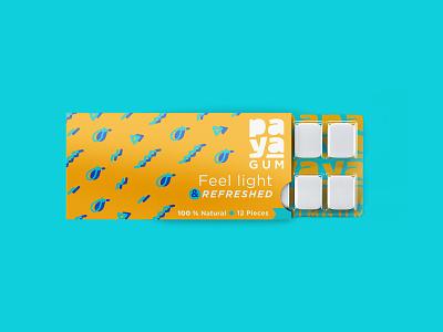 paya gum dribbble dribbble best shot natural pack fruity gum packaging color fruit logo gum fruits package design packaging branding mark design logos brand design visual creative brand