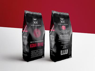 Kope Kabana dribbble coffee packaging coffee hawaiian maori black red package design packaging design packaging vector branding mark design logos brand design creative brand