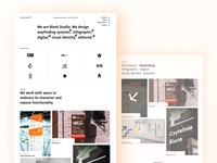 Blank studio website