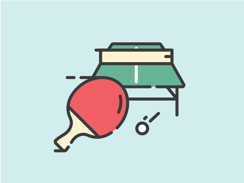 Ping Pong table tennis ping pong lineart vector icon artwork illustration speed sport ball table