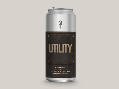 Utility Cream Ale beer can design identity beer branding beer beer label