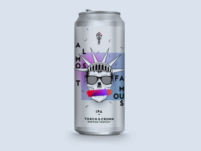 Torch & Crown Brewing Company – Almost Famous identity package design beer label beer can beer