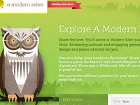 A Modern Eden Temporary Page