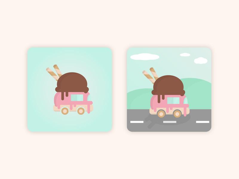 Designated Desserts App Icon app icon vector design illustration adobe illustrator