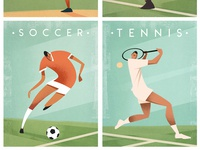 Classic Sports Poster Designs