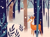 Winter Holiday Postcard