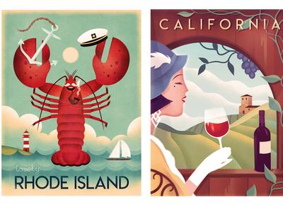 Retro & Art Deco Travel Posters