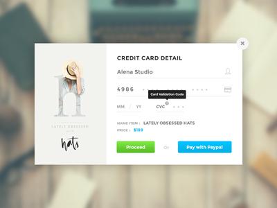 Credit Card Checkout - DailyUI #002