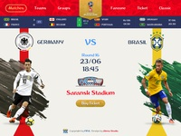 World Cup 2018 - UI Landing Page Concept