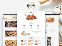 Bready 🥐🍞Bakery & Cake layout template for Shop 🥖🥨🌭🍕🥞🌮