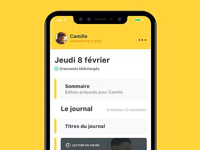 Les Croissants - Redesign interface ui ai radio les croissants podcast apple iphone x app