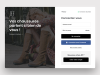 JEF Chaussures - Login redesign