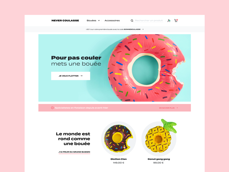Pool floats store 💦 store design store ecommerce homepage homepage design website interface ui design
