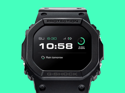G-SHOCK - Smartwatch concept brand app design watch os invisionapp invisionstudio animated animation device os interface ux ui smartwatch watch g-shock