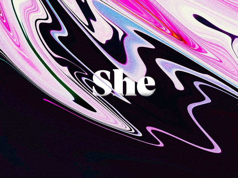 She illustration distorted distortion font marble fluid abstract background abstract