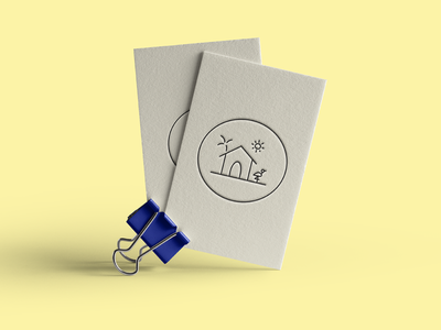 Beach + sunny logo for small business sunny business card mock up logo
