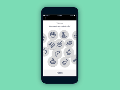 Oboarding Screen wireframe kapwing food onboaring dailyui